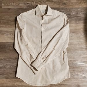 J Lindeberg Brown Microcheck Shirt